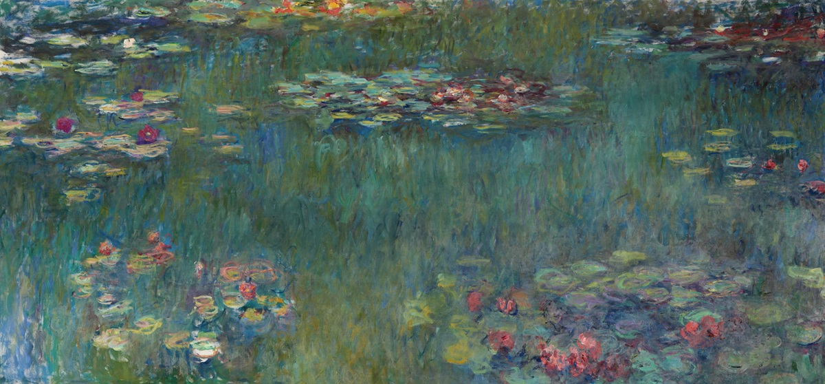 Water Lilies-Claude Monet Waterside Scenes Canvas Wall Art Print Stretched Frame Ready to Hang