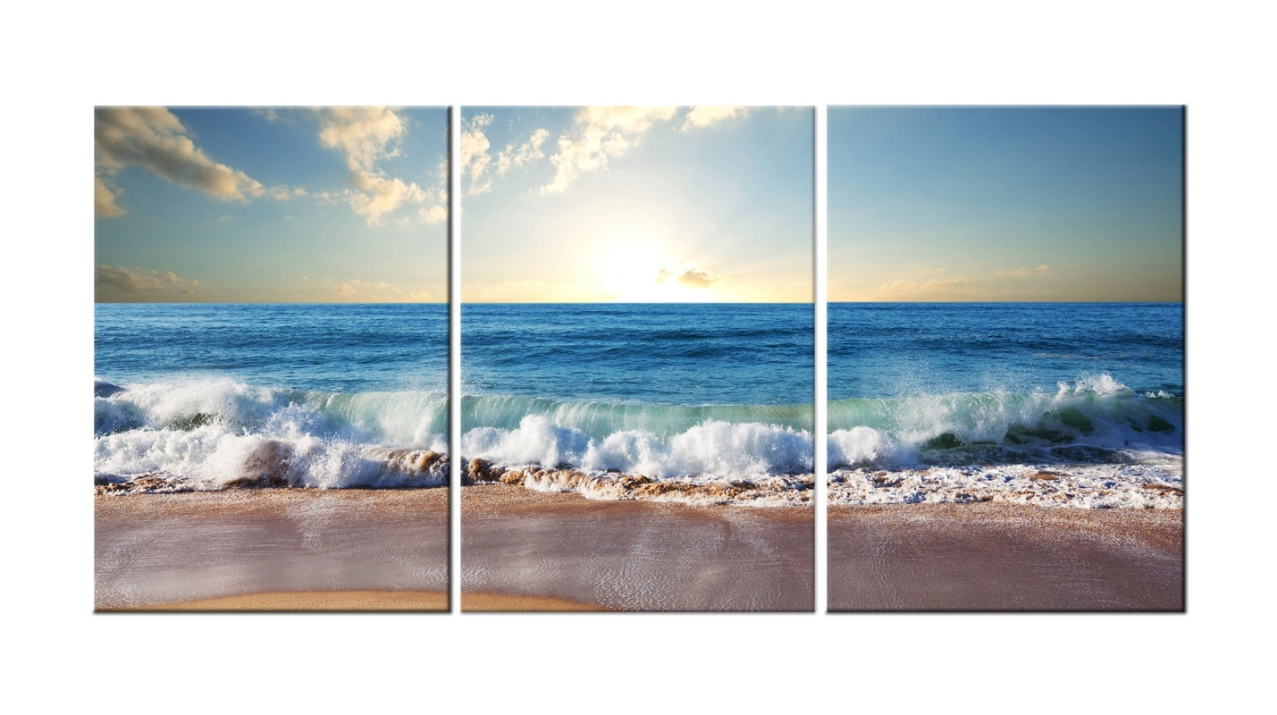 Sandy Beach- Modern Canvas Art Wall Decor-Landscape Canvas Prints Wall Art with Stretched Frame