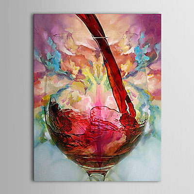 Wine Cup -Still Life Oil Painting Wall Art-Modern Canvas Art Wall Decor with Stretched Frame Ready to Hang