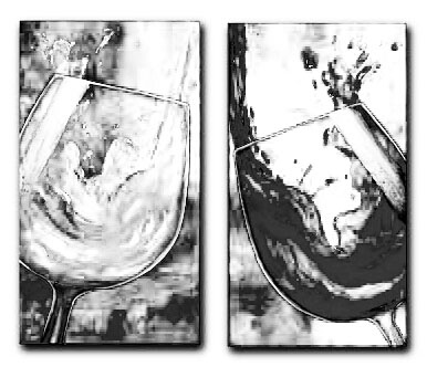 Wine Glassess Still Life l Painting Wall Art-Modern Canvas Art Wall Decor with Stretched Frame Ready to Hang