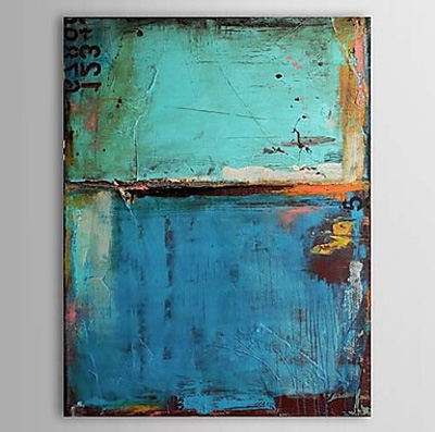 Oil Paintings Vintage Abstract Blue Color Canvas Wall Art