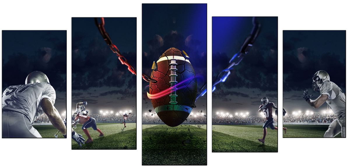 Football Rugby -Sport Wall Art-Modern Canvas Art Wall Decor with Stretched Framed Ready to Hang