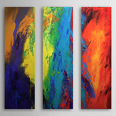 Colorful -Modern Canvas Abstract Oil Painting Wall Art With Stretched Frame Ready to Hang