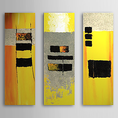 Yellows -Modern Abstract Oil Painting Wall Art With Stretched Frame Ready to Hang
