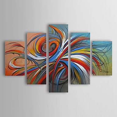Colorful Circles-Modern Canvas Art Wall Decor-Abstract Oil Painting Wall Art with Stretched Frame