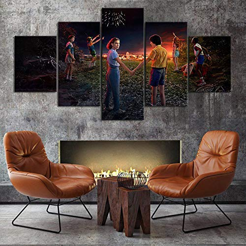 tranger Things Poster Season 3 Eleven and Mike Stranger Things Movie Poster Canvas Print Wall Art