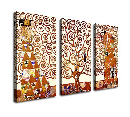 Canvas Wall Art Prints Tree of Life Stoclet Frieze 1909 by Gustav Klimt Abstract Painting Framed Ready to hang