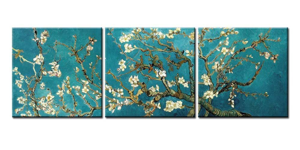 Almond Tree In Blossom by Van Gogh-Modern Canvas Art Wall Decor-Famous Painting Wall Art with Stretched Frame Ready to Hang