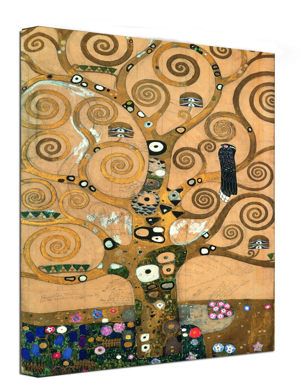 Canvas Wall Art Print Tree of Life by Gustav Klimt Abstract Painting Framed Ready to hang