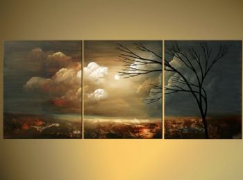 A Moment Like This-Modern Canvas Art Wall Decor-Landscape Oil Painting Wall Art with Stretched Frame Ready to Hang