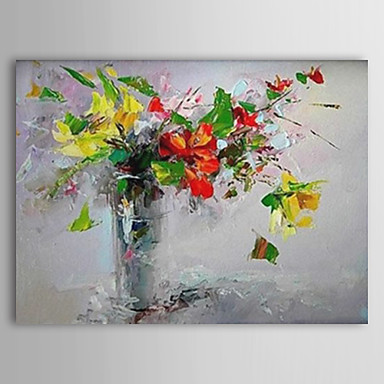 Kinfe Flower-Modern Canvas Art Wall Decor-Floral Oil Painting Wall Art with Stretched Frame Ready to Hang