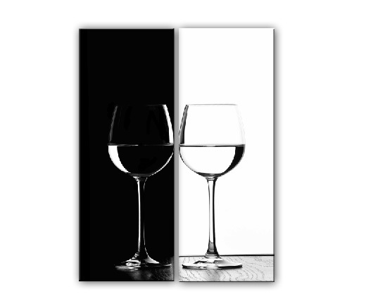 Black White Cups-Modern Canvas Art Wall Decor-Still Life Canvas Prints Wall Art with Frame Ready to Hang