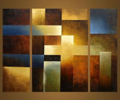 African Tribes Ii Modern Abstract Canvas Oil Painting Wall Art Stretched Frame Ready To Hang