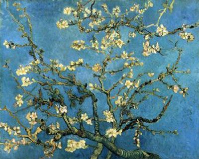 Almond Blossom-Vincent Van Gogh Oil Painting-Floral Canvas Wall Art Decor