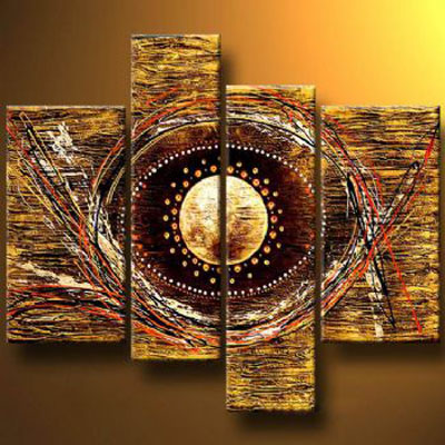 An Eye Or Not An Eye-Modern Canvas Oil Painting Wall Art with Stretched Frame Ready to Hang