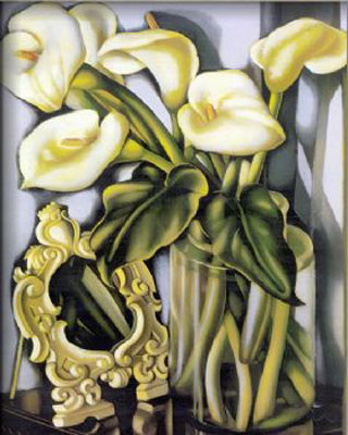 Arums II-Tamara de Lempicka oil painting-Floral canvas wall art Stretched on Wooden Frame Ready to Hang