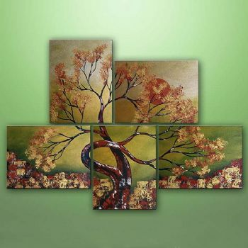 Asian Dream-Modern Canvas Art Wall Decor-Floral Oil Painting Wall Art with Stretched Frame Ready to hang