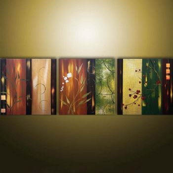 Charmant Asian Fantasy Modern Canvas Art Wall Decor Floral Oil Painting Wall Art  With Stretched