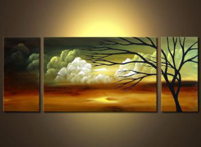 At The Palace Of Creation II-Modern Landscape Oil Painting Canvas Wall Art with Stretched Frame Ready to Hang