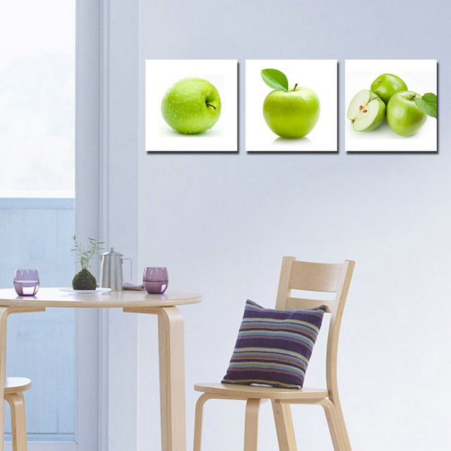 Apples-Modern Canvas Art Wall Decor-Still Life Canvas Prints Wall Art without Frame BJQ0047