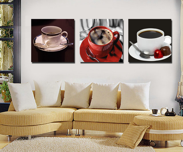 Coffee and Cups -Modern Canvas Art Wall Decor-Still Life Canvas Prints Wall Art No Frame BJQ0078