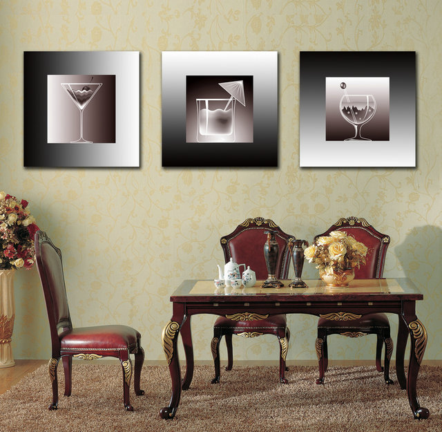 Drinking Cups-Modern Canvas Art Wall Decor-Still Life Canvas Prints Wall Art with Frame Ready to Hang BJQ0102