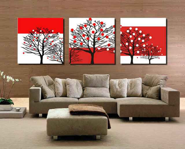 Colorful Tree-Modern Canvas Art Wall Decor-Abstract Canvas Prints Wall Art No Frame BJQ0390