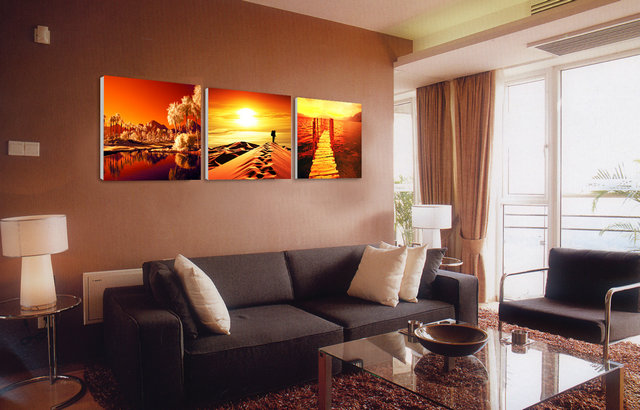 Canvas Wall Art Set of 3 Floral Oil Paintings Canvas Print without Frame BJQ0996