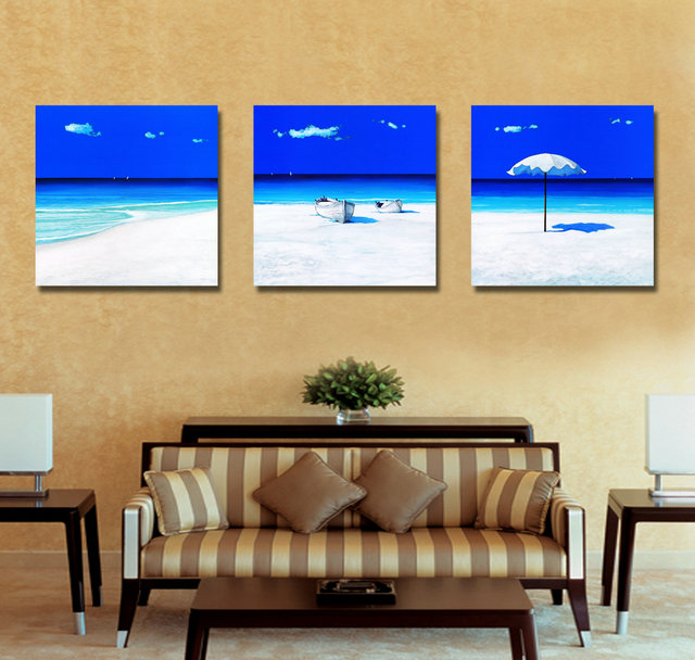 Blue Sea-Modern Canvas Art Wall Decor-Landscape Canvas Prints Wall Art without Frame BJQ1056