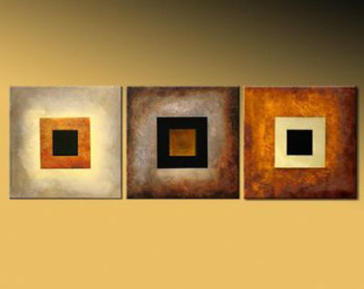 Back To Square One-Modern Abstract Oil Canvas Painting Wall Art with ...