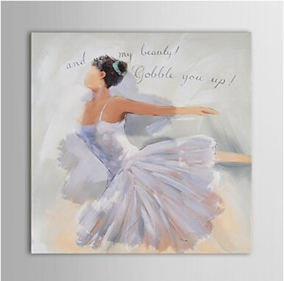 Ballet Girl Dancing Lady-Dancer Oil Painting Wall Art-Modern Canvas Art Wall Decor with Stretched Frame Ready to Hang