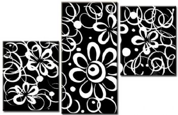 Black white flowers oil painting wall art with stretched frame ready black white flowers oil painting wall art with stretched frame ready to hang mightylinksfo Gallery