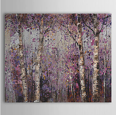 Botanical Forest-Landscape Oil Painting Wall Art-Modern Canvas Art Wall Decor Stretched Frame Ready to Hang