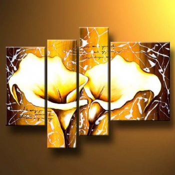 Callas Positive Energy-Modern Canvas Art Wall Decor-Floral Oil ...