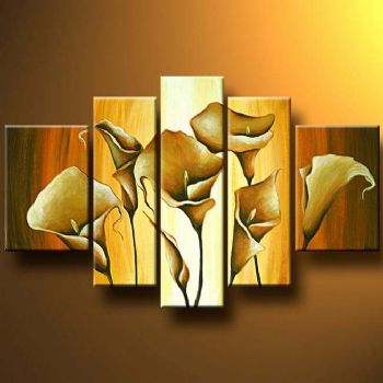Callas Tranquility-Modern Canvas Art Wall Decor-Floral Oil Painting ...