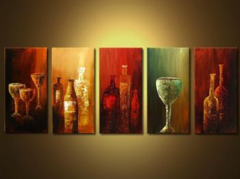 Canvas Wall Decor cheese and wine-modern canvas art wall decor-abstract oil painting