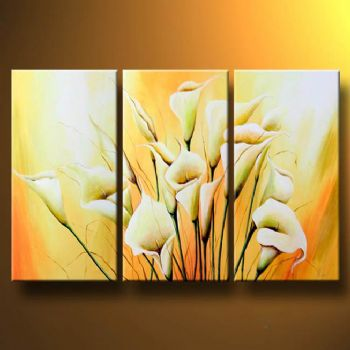 Classical Bueauty-Modern Canvas Art Wall Decor-Floral Oil Painting Wall Art with Stretched Frame