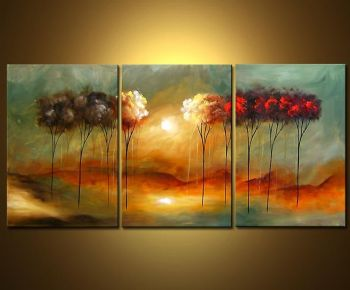 Close To You II-Modern Canvas Art Wall Decor-Landscape Oil Painting Wall Art with Stretched over Wood Frame