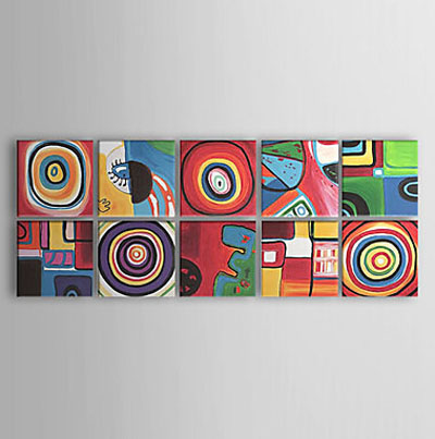 Color Cirles-Modern Canvas Art Wall Decor-Abstract Oil Painting Wall Art