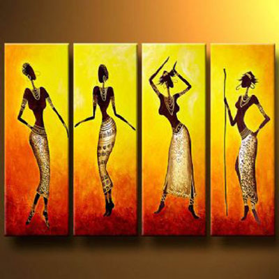 Exceptionnel Dance Of African Girls Modern Canvas Art Wall Decor Abstract Oil Painting  Wall Art