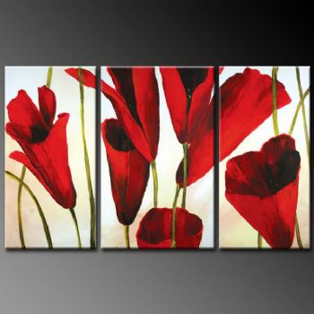 Dream About Tulips-Modern Canvas Art Wall Decor-Floral Oil Painting Wall Art with Stretched Frame