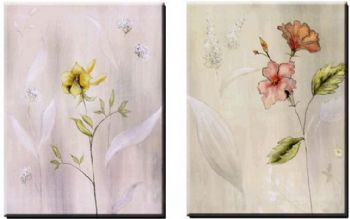 Elegant Wall Art elegant performance ii-modern canvas art wall decor-floral oil