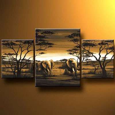 Evening Walk-Modern Canvas Art Wall Decor-Landscape Oil Painting Wall Art with Stretched Frame Ready to Hang