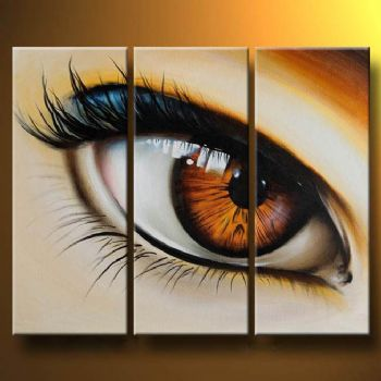 Eye-Modern Canvas Art Wall Decor-Abstract Oil Painting Wall Art with Stretched Frame Ready to Hang