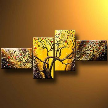 Fast Flowering-Modern Canvas Art Wall Decor-Landscape Oil Painting Wall Art