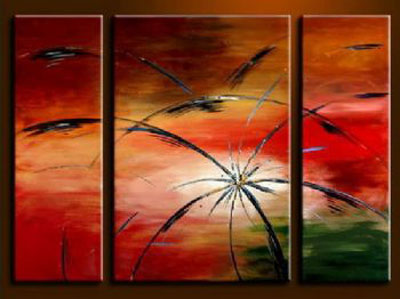 Fireworks Blossom-Modern Canvas Oil Painting Wall Art with Stretched Frame Ready to Hang