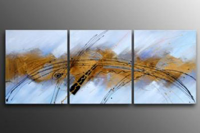 Galatic Fantasy I Modern Canvas Oil Painting Wall Art With Stretched Frame Ready To Hang