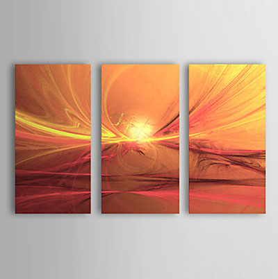 First Light of Morning- Abstract Canvas Oil Painting Wall Art with Stretched Frame Ready to Hang
