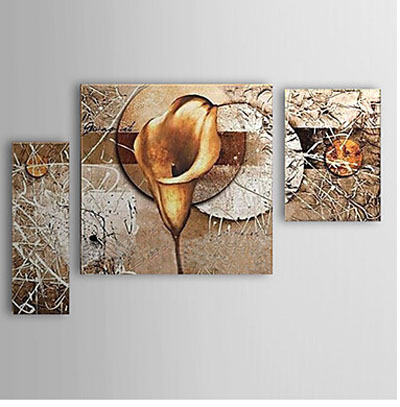 Calla Lily -Modern Canvas Art Wall Decor-Floral Oil Painting Wall ...