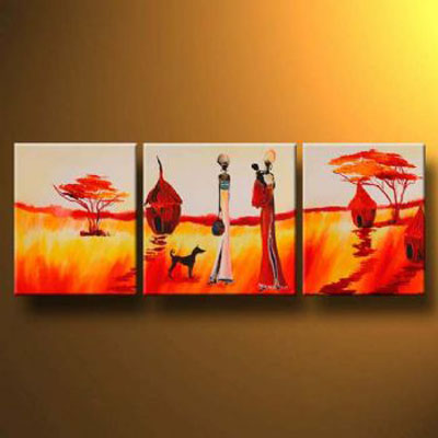 In Accordance With Natures Law-Modern Landscape Oil Painting Wall Art with Stretched Frame Ready to Hang